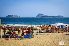 Ipanema Beach in Rio de Janeiro (photosbymcm) Tags: janeiro rio de riodejaneiro brazil brasil southamerica travel south america ipanema beach locals carioca cariocas sand sea ocean praia