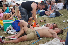 Entwined (CharlesFred) Tags: shirtless english birthdayparty epsom thederby epsomdowns englishlads epsomderby 2011derby epsomderby2011 pourmoisderby
