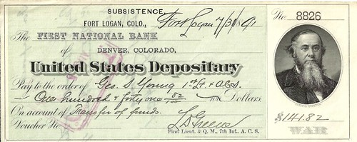 Denver Mint check 1891