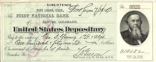 Denver Mint check 1891