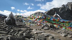 Dolma La Pass Panorama - 1 (Saumil U. Shah) Tags: panorama mountain mountains nature trekking trek canon hiking pass hike tibet journey himalaya spiritual shiva hindu hinduism kailash yatra jain pilgrimage kora himalayas rinpoche gauri kang shah parvati mansarovar parikrama manasarovar dolma jainism kailas circumambulation  dolmalapass saumil kmy kangrinpoche dolmala     kmyatra saumilshah