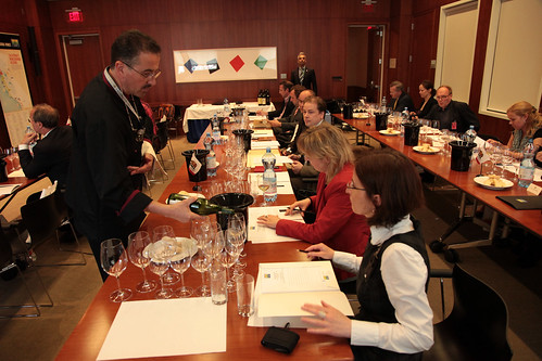 A wide range of wine types and price ranges were tasted and rated during the 35th anniversary tasting.