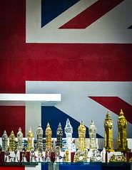 The Biggest Ben (DobingDesign) Tags: england london shop display flag steps patriotic tourist plastic souvenir shopwindow redwhiteandblue unionjack cheesey lineup bigbenmodel inorderofheight