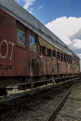 All Aboard (darkday.) Tags: wood old urban train track risk decay australian australia brisbane explore urbanexploration infiltration qld queensland aussie exploration hacking ipswich ue urbex queenslander