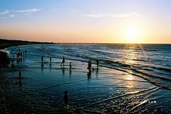 Sunset waves (Jennifer ) Tags: sunset film beach landscape nikon waves    fm3a