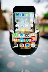 waterproof :) (besimo) Tags: iphone7 iphone apple waterproof test smartphone water glass leica leicaq 28mm f17 wine