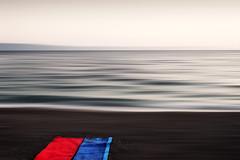 Dreamy (M.patrik) Tags: beach dreamy motion blur blankets sea summer abstract croatia tuepi coast minimalistic romantic blue red fantastic dream bmw fav10