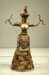 Minoan Snake Goddess from Knossos in Crete (neilalderney123) Tags: 2016neilhoward knossos crete minos minoan goddess snake history olympus omd
