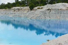 Danau Lake Kaoline Kaolin Bangka Island Blue INDONESIA Wonderfulindonesia (eriko_ie) Tags: danau lake kaoline kaolin bangka island blue indonesia wonderfulindonesia