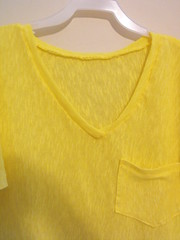 DSCF0167 (artjunki22) Tags: original yellow handmade unique tshirt