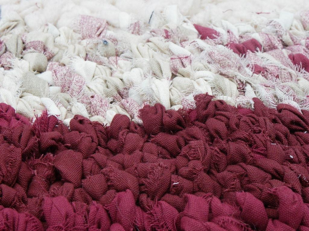 burgundy rag rug