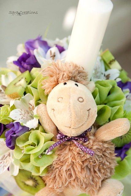 little sheep - lumanare botez ( christening candle )