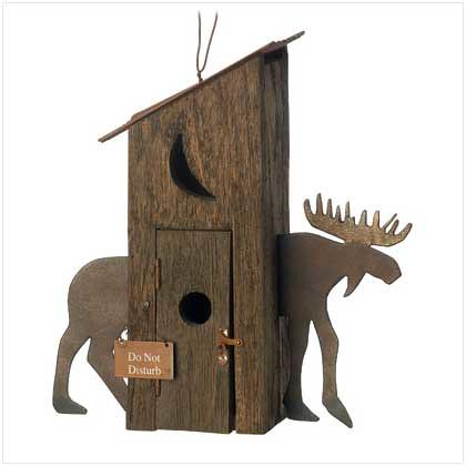 Moose Hut Birdhouse B13804