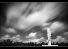 Dream-scape........ (Chrisconphoto) Tags: longexposure blackandwhite bw sculpture clouds canon dream sigma 1020mm sthelens dreamscape merseyside weldingglass juameplensa eos400d