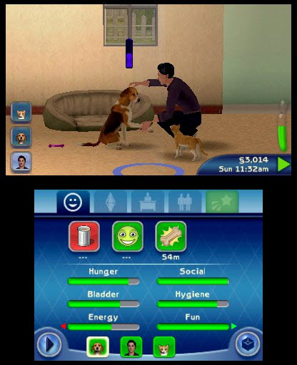 The Sims 3 Pets Teaching Shake to Dog