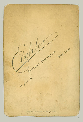 Cabinet Card by Eichler, N. Y.