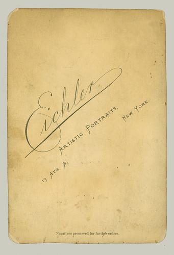 Cabinet Card by Eichler, N. Y.