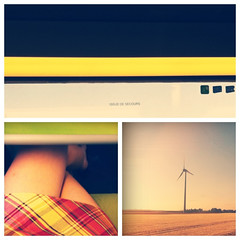 Bohme (t.t@o) Tags: trip summer woman window girl collage train triptych july explore story t juillet telling fentre vitre iphone 2011 explored lesud