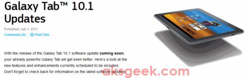 Galaxy Tab 10.1 update