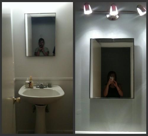 bathroom: mirror