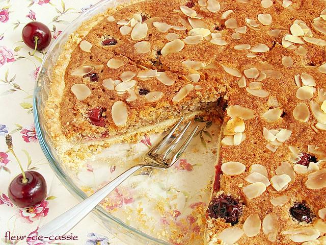 пирог миндально-вишневый 2
