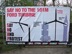 No Turbines here (Brownie Bear) Tags: uk england ford village wind britain district united buckinghamshire great banner protest kingdom vale gb aylesbury turbine