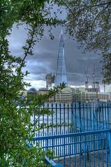 The Shard (davidkhardman) Tags: trees london thames buildings rivers shard railings towerhill canonef24105mmf4lis