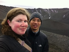 Celebrating Our Sixth Anniversary by Hiking Up a Volcanic Crater (alykat) Tags: iceland anniversary crater myvatn cindercone iphone hverfjall volcaniccrater mvatn alysonhurt robpongsajapan hverfell iphone4 tephracone tuffringvolcano