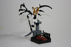 Death's Corder (Siercon and Coral) Tags: castle grave angel death lego reaper tombstone fantasy knight undead vignette necromancy