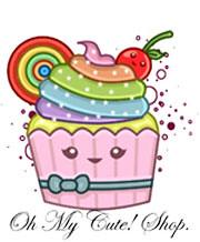My shop logo!! ^-^ (♥OhMyCuteShop♥ (Laura Swallow)) Tags: cute japan japanese rainbow craft lolita cupcake kawaii etsy