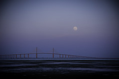 24/52 Moonrise over the Sunshine Skyway Bridge (Denise Rose Photography) Tags: 2012 week24 522012 52weeksthe2012edition weekofjune10 moonriseoverthesunshineskywaybridge