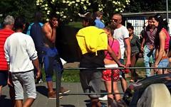 Street Scene Taken from Tram Window (Kojotisko) Tags: street city people streets person czech streetphotography brno cc creativecommons czechrepublic streetphoto persons praktica fujifilmfinepix fujifilmfinepixsl1000 fujifilmfinepixsl1000kojotisko
