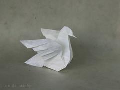 Dove (version 2.0) (ronatka) Tags: bird origami pigeon dove paloma publication bakingpaper unryupaper nataliaromanenko