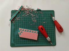 triangles (eve.eire) Tags: triangles rubberstamp rubber stamp ephemera scrap print handprint scrapbooking