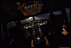 A330 @Miami (2016) (Ismael Jorda) Tags: airbus a330 cockpit night dusk storm miami airliner pilots fl