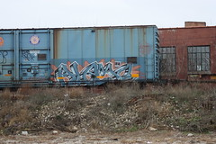 11-26.2-11 (4) (This Guy...) Tags: graf graff graffiti train car traincar rail road railroad rr box boxcar 2011 alamo alb