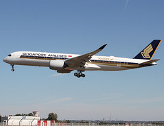 """Singapore' Airlines. Sticker The special livery on A350 Airbus' 10,000 The Airbus Aircraft """". (Jacques PANAS) Tags: singapore airlines airbus a350941 9vsmf fwzfd msn054"""
