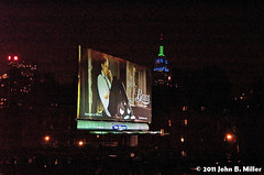 Bass (jmillerdp) Tags: street city nyc newyorkcity urban ny newyork color night digital ads advertising downtown exterior kodak bass manhattan interior ad billboard advertisement midtown timessquare esb empirestatebuilding highline dc280