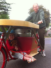 ride test_wtih Ella (METROFIETS) Tags: green beer bike bicycle oregon garden portland construction paint nw box handmade steel weld coat transport craft cargo torch frame pdx custom load cirque woodstove builder haul carfree hpm suppenkuche stumptown paragon stp chrisking shimano custombike cargobike handbuilt beerbike workbike bakfiets cycletruck rosecity crafted 4130 bikeportland 2011 braze longjohn paradiselodge seattlebikeexpo nahbs movebybike kcg phillipross bikefun obca ohbs jamienichols boxbike handmadebike oregonhandmadebikeshow nntma hopworks metrofiets alltypesoftransport cirqueducycling oregonmanifest matthewcaracoglia palletbike oregonframebuilder seattlebikeshow bikefarmer trailheadcoffee