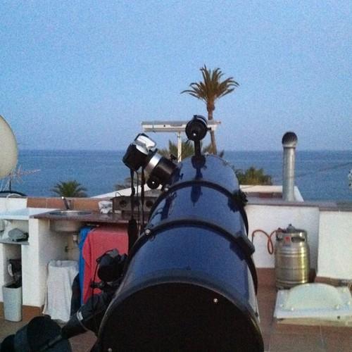 Preparativos listos... Ha esperar q salga la luna... #eclipselunar