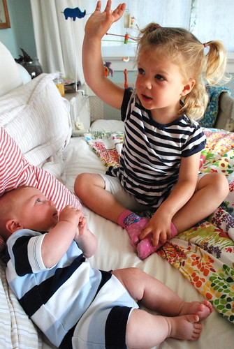 stripey siblings