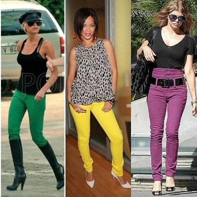 como usar calça colorida feminina