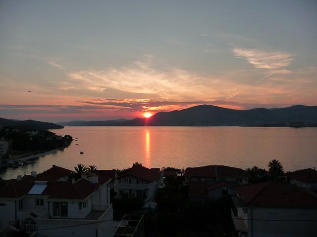 Sunset over Ciovo Island