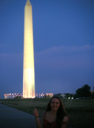 Sarah with Washington Monument