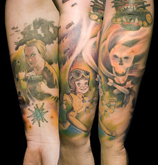 WWII sleeve in progress