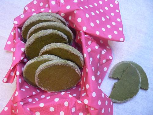 Biscotti al thé Matcha