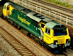 Freightliner 70003 - up close and personal (KPAR Media UK) Tags: uk england train canon diesel rail railway loco gloucestershire 7d locomotive freight stonehouse freightliner class70 standishjunction