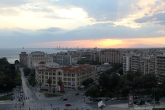 Thessaloniki, Greece (Tilemahos Efthimiadis) Tags: white tower hellas commons greece 100views wikipedia thessaloniki 50views picnik whitetower wikimedia ote   otetower helexpo
