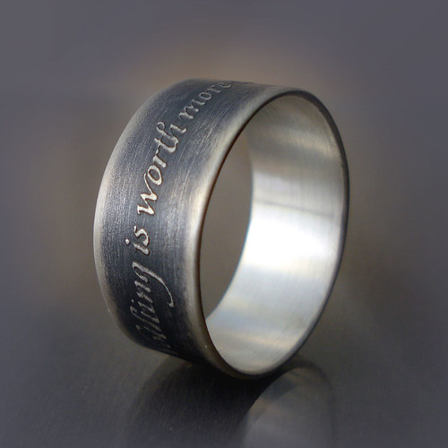 Nothing is Worth More ring