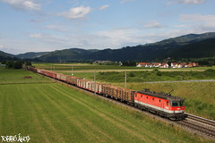 1044 042-0 2011.07.02. Knittelfeld (mienkfotikjofotik) Tags: train eisenbahn rail railway bahn freight bb gterzug 1044 sterreichische tehervonat vast wortmarke bundesbahnen vasutak rh1044 bb